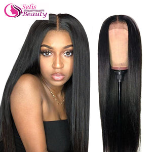 Straight Lace Front Wig Remy 360 Lace Frontal Wig 150% Density 13X4/13X6 Malaysian Straight Lace Front Human Hair Wigs