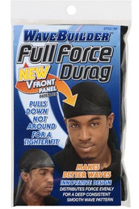 WaveBuilder Full Force Durag [Black] #194