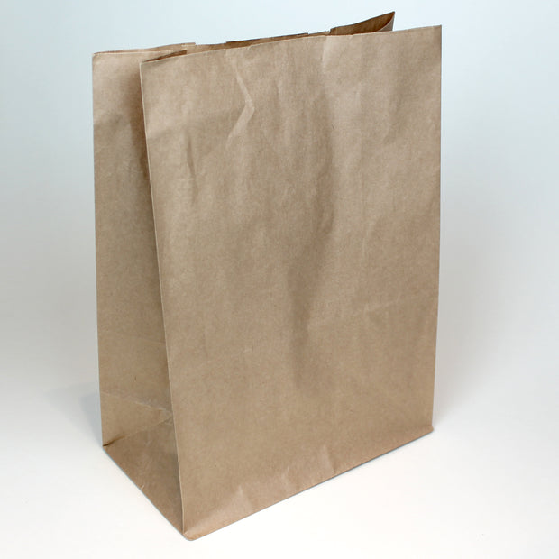 Brown Paper Grab Bag - Large - Custom Printed - Print on Paper Bags