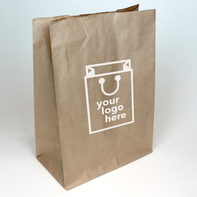 Brown Paper Grab Bag - Medium - Print on Paper Bags