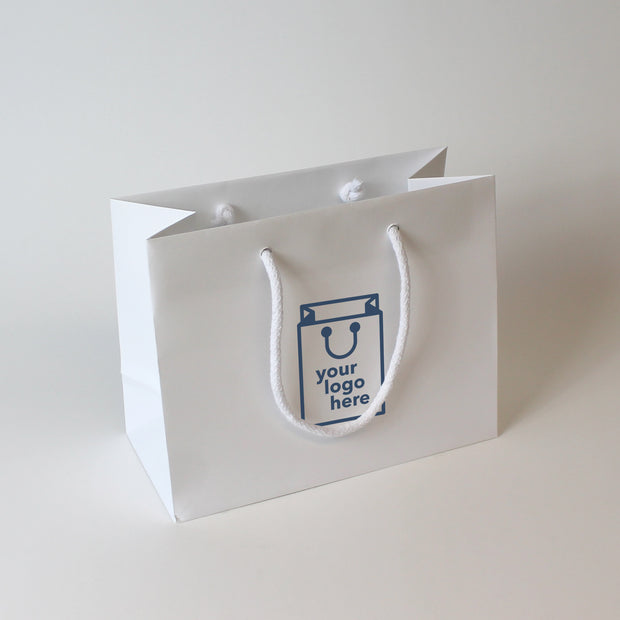 Luxury Rope Handle Non-laminated Paper Bag - Small - Print on Paper Bags