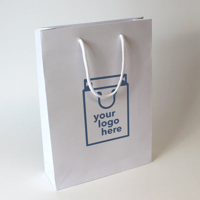 Luxury Rope Handle Non-Laminated Paper Bag - Large - Print on Paper Bags