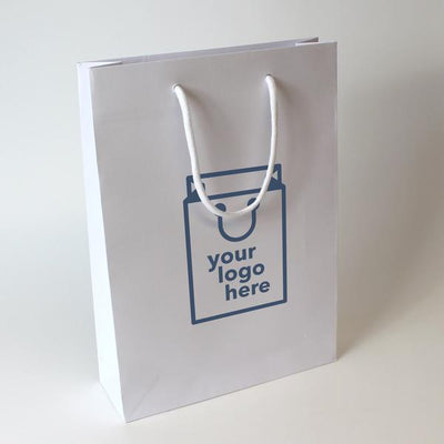 Luxury Rope Handle Non-laminated Paper Bag - Medium - Print on Paper Bags
