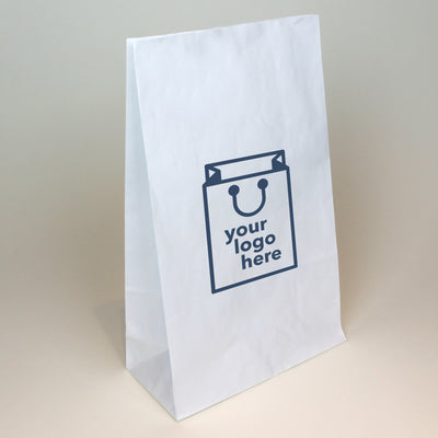 White Paper Grab Bag - Medium - Print on Paper Bags