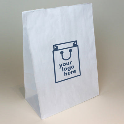 White Paper Grab Bag - Large - Print on Paper Bags