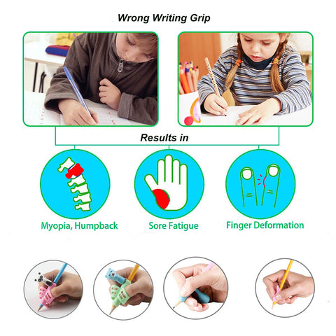 finger grip pencil grip writing tool preschool pen handwriting writing posture