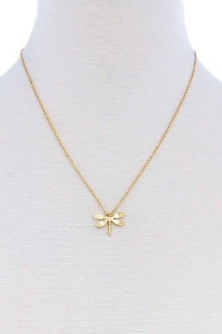 Cute Dragonfly Pendant Modern Necklace