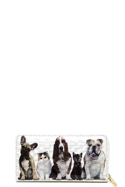 Chic Cute Pet Print Wallet