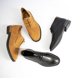 Treat your feet to some genuine leather Chukka boots. These are vellies which went to private school