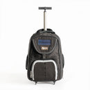 Eco Solar Powered LED Carry-on Backpack with Wheels and Telescoping Handle