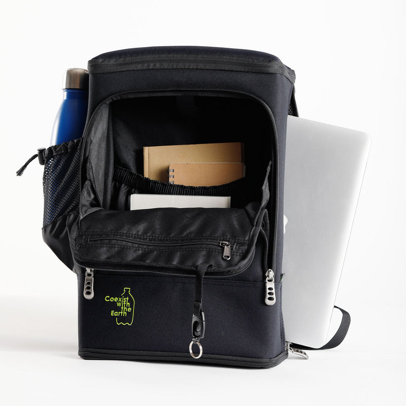 Recycled Eco Shield Backpack with Built In Stool DAAI Technology