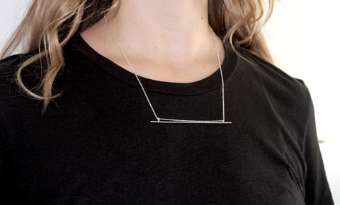 Large Nootka Necklace in Silver