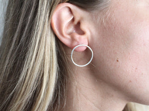 Bamfield Hoops in Silver