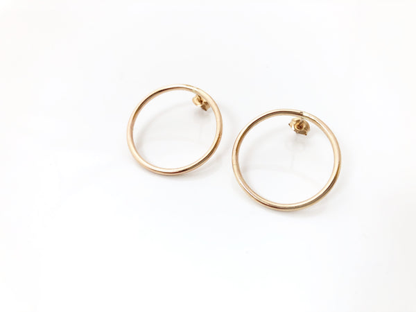 Bamfield Hoops in Gold