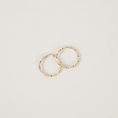 Tempo Hoops | Gold | Large - Charlotte Penman Jewellery