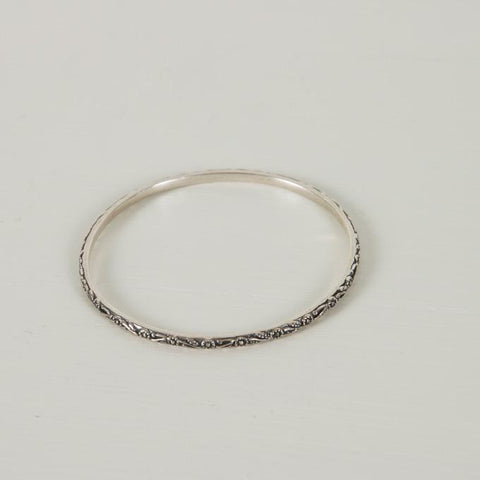 Daisy Chain Bangle | Silver - Charlotte Penman Jewellery