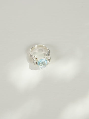 Serpent Cocktail Ring | Silver | Topaz - Charlotte Penman Jewellery