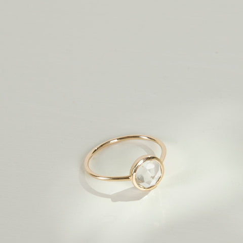 Clarissa Ring | 14k Gold | Clear Quartz - Charlotte Penman Jewellery