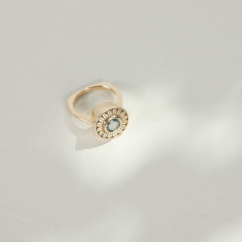 Daisy Cocktail Ring | 9k Gold | Topaz - Charlotte Penman Jewellery