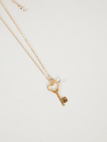 Key To Heaven Necklace | Gold - Charlotte Penman Jewellery