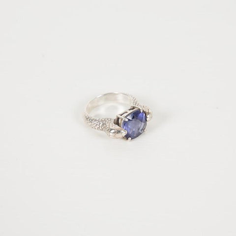 Serpent Cocktail Ring | Silver | Iolite - Charlotte Penman Jewellery