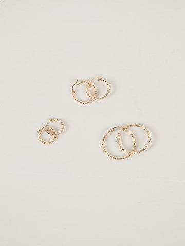 Tempo Hoops | Gold | Small - Charlotte Penman Jewellery