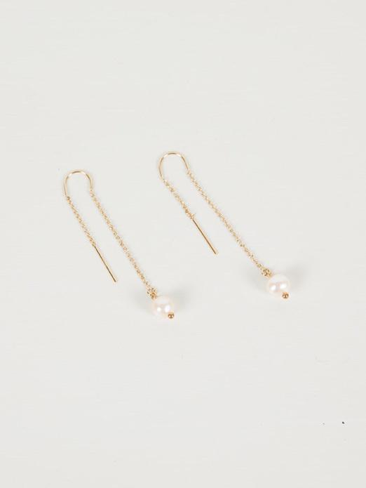Elo Threaders | Gold with Pearl - Charlotte Penman Jewellery