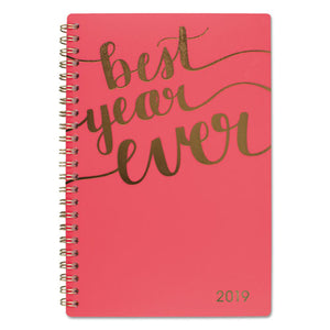 ESAAG102220027 - ASPIRE WEEKLY-MONTHLY PLANNER, 4 7-8 X 8, CORAL, 2019