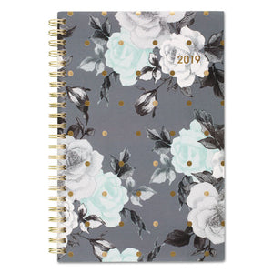 ESAAG1130200 - TEA TIME WEEKLY-MONTHLY PLANNER, 4 7-8 X 8, GOLD-GRAY-WHITE, 2019