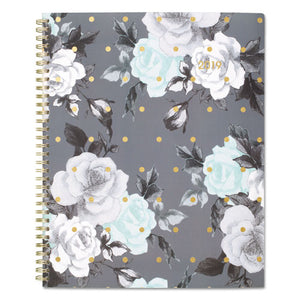 ESAAG1130905 - TEA TIME WEEKLY-MONTHLY PLANNER, 8 1-2 X 11, GOLD-GRAY-WHITE, 2019