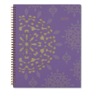 ESAAG122905 - VIENNA WEEKLY-MONTHLY APPOINTMENT BOOK, 8 1-2 X 11, PURPLE, 2019