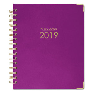 ESAAG609980559 - HARMONY WEEKLY-MONTHLY HARDCOVER PLANNER, 6 7-8 X 8 3-4, BERRY, 2019