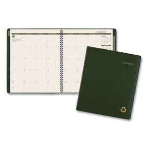 ESAAG70260G60 - Recycled Monthly Planner, 9 X 11, Green, 2018-2019