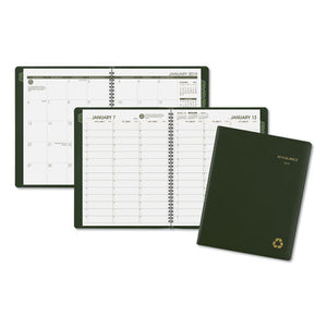 ESAAG70950G60 - Recycled Weekly-monthly Classic Appointment Book, 8 1-4 X 10 7-8, Green, 2019