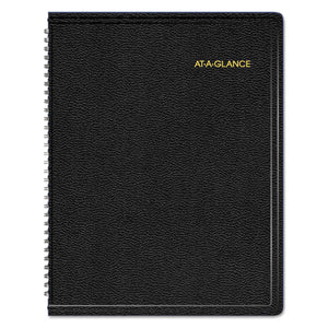 ESAAG70950V05 - TRIPLE VIEW WEEKLY-MONTHLY APPOINTMENT BOOK, 8 1-4 X 10 7-8, BLACK, 2019