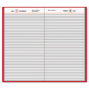 ESAAGSD37613 - STANDARD DIARY DAILY DIARY, RECYCLED, RED, 7 11-16 X 12 1-8, 2019