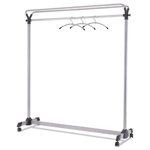 "ESABAPMGROUP3 - LARGE CAPACITY GARMENT RACK, 63 1-2"" X 21 1-4"" X 67 1-2"", BLACK-SILVER"