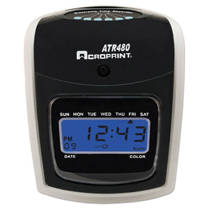 ESACP010285001 - Atr480 Time Clock Bundle, Lcd, Automatic, White-charcoal