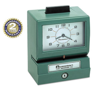 ESACP01107040A - Model 125 Analog Manual Print Time Clock With Date-0-23 Hours-minutes