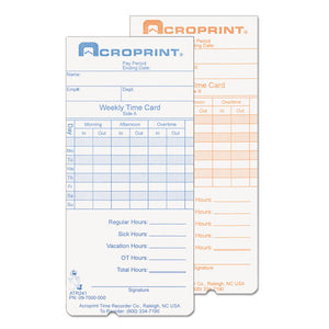 ESACP097000000 - Weekly Time Cards For Atr240 And Atr360, 250-pack