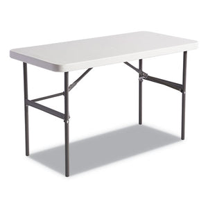ESALE65603 - Banquet Folding Table, Rectangular, Radius Edge, 48 X 24 X 29, Platinum-charcoal