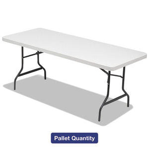 ESALE65620 - Folding Table, 72w X 30d X 29h, Platinum-charcoal, 15-pallet