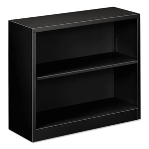 "ESALEBCM22935BL - Steel Bookcase, 2-Shelf, 34.5""w X 12.63""d X 29""h, Black"