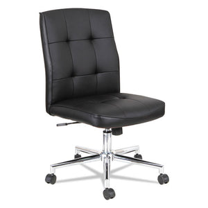 ESALENT4916 - Slimline Swivel-tilt Task Chair, Black With Chrome Base