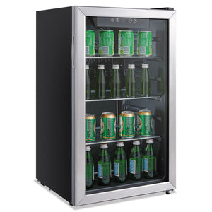 ESALERFBC34 - 3.2 CU. FT. BEVERAGE COOLER, STAINLESS STEEL-BLACK