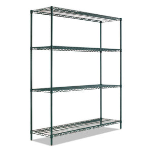 "ESALESW207224BA - BA PLUS WIRE SHELVING KIT, 4 SHELVES, 72"" X 24"" X 72"", BLACK ANTHRACITE+"
