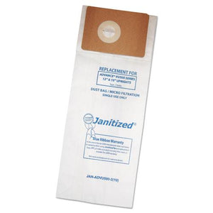 ESAPCADVU500210 - VACUUM FILTER BAGS DESIGNED TO FIT ADVANCE VU500-TRIPLE S TRIUMPH, 100-CARTON