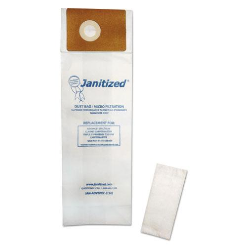 ESAPCJANADVSPEC21 - VACUUM FILTER BAGS DESIGNED TO FIT ADVANCE SPECTRUM CARPETMASTER, 100-CARTON