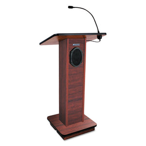 ESAPLS355MH - Elite Lecterns With Sound System, 24w X 18d X 44h, Mahogany
