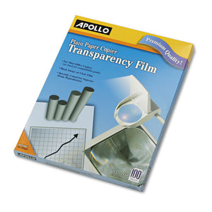 ESAPOPP100C - PLAIN PAPER B-W TRANSPARENCY FILM, LETTER, CLEAR, 100-BOX